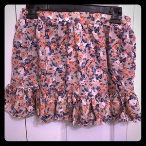 TOBI floral skirt NWT